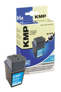 KMP H4 ink cartridge black compatible with HP 51629 A (0925,4291)