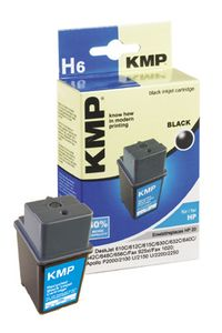 KMP H6 ink cartridge black compatible with HP C 6614 D (0929,4141)
