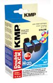 KMP H12D ink cartridge color 2pcs comp. with HP C 9503 AE (0995,4022)
