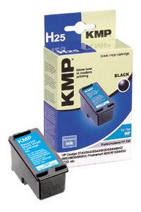 KMP H25 ink cartridge black compatible with HP C 8767 E (1023,4339)
