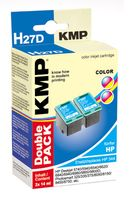 H27D ink cartridge color 2pcs comp. with HP C 9505 EE