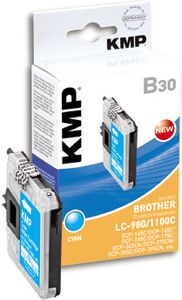 KMP B30 ink cartridge cyan compatible w. LC-980/ LC-1100 C (1521,5223)