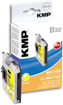 B32 ink cartridge yellow compatible w. LC-980/ LC-1100 Y