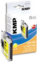 KMP B32 ink cartridge yellow compatible w. LC-980/ LC-1100 Y (1521,5229)
