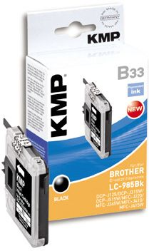 B33 ink cartridge black compatible w. Brother LC-985 BK