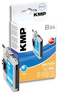 KMP B34 ink cartridge cyan compatible with Brother LC-985 C (1523,0003)