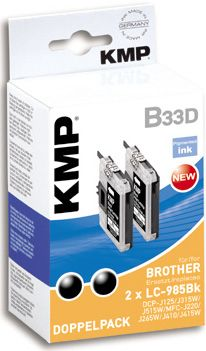 B33D ink cartridge BK DP compatible w. Brother LC-985 BK