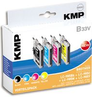 KMP B33V Promo Pack   BK/C/M/Y compatible with Brother LC-985 (1523,0050)
