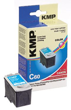 C60 ink cartridge color compatible with Canon CL-51