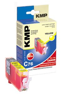 KMP C76 ink cartridge yellow compatible with Canon CLI-521 Y (1510,0009)