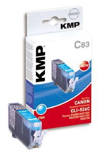 KMP C83 ink cartridge cyan compatible with Canon CLI-526 C (1515,0003)