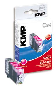 KMP C84 ink cartridge magenta compatible with Canon CLI-526 M (1515,0006)