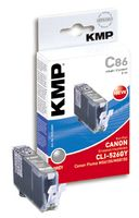KMP C86 ink cartridge grey compatible with Canon CLI-526 GY (1515,0041)