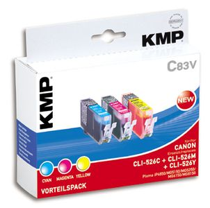 KMP C83V Promo Pack   C/M/Y compatible with Canon CLI-526 (1515,0050)