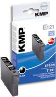 KMP E121 ink cartridge black compatible with Epson T 128 (1616,0001)