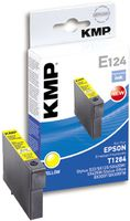 KMP E124 ink cartridge yellow compatible with Epson T 128 (1616,0009)