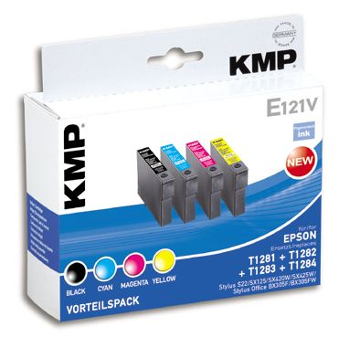 E121V Promo Pack   BK/C/M/Y compatible with Epson T 128