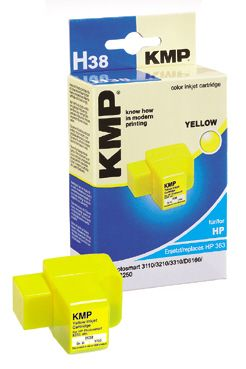 H38 ink cartridge yellow comp. with HP C 8773 EE No. 363
