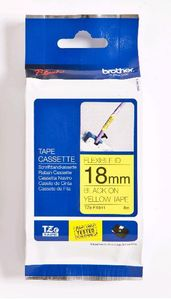 BROTHER 18MM Black On Yellow Flexible ID (TZEFX641)