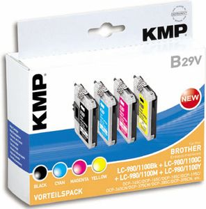 KMP B29V Promo Pack   BK/C/M/Y compatible with LC-980/ LC-1100 (1521,5225)