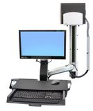 ERGOTRON SV COMBO ARM  WORKSURFACE PRE-CONFIG MED CPU HOLDER POLISHED