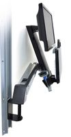 SV SIT STAND COMBO ARM NO WORKSURFACE  POLISHED