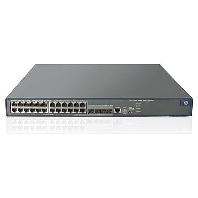 5500-24G-PoE+ SI Switch with 2 Interface Slots