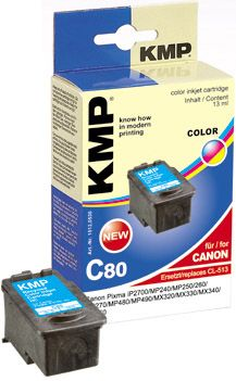 C80 ink cartridge color compatible with Canon CL-513