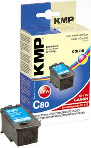 KMP C80 ink cartridge color compatible with Canon CL-513 (1512,4530)