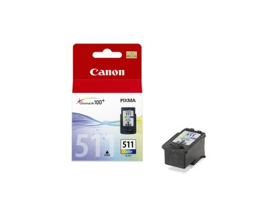 CANON CL-511 ink cartridge colour low capacity 9ml 240 pages 1-pack blister with alarm (2972B010)