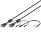 WENTRONIC VGA cable with mini jack for sound 2m - qty 1