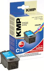 KMP C78 ink cartridge color compatible with Canon CL-511 (1512,4030)