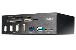 AK-HC-05BK Internal 6-Port Card Reader 5,25 - black