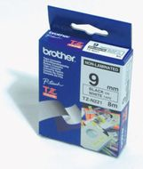 BROTHER Tape/9mm black on white f P-Touch (TZEN221)