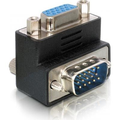 Angled VGA adapter - Male/ Female 15pin