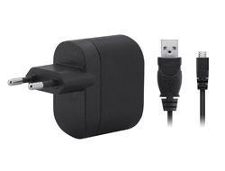 Micro USB Wall Charger 5V 1A w/cable Black