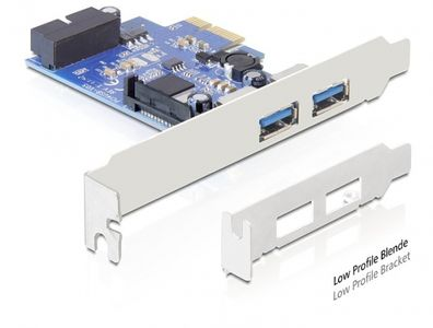 DELOCK PCI Expr Card 2x USB3.0 ext + 1xUSB3.0 Pin  (89315)
