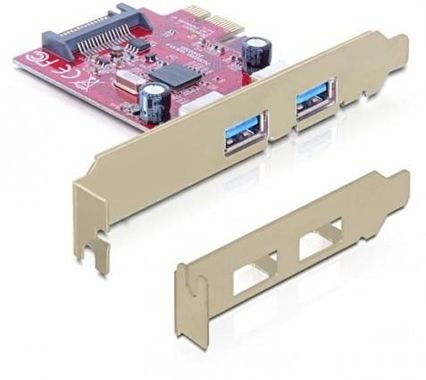 PCI Express card > 2x USB 3.0 - USB adapter
