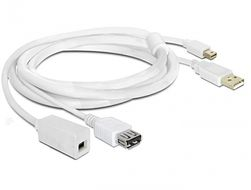- USB / DisplayPort extension cable - 4 pin