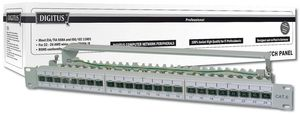 Net Patchpanel 24 Port Professional CAT6a 19 1U [gy]