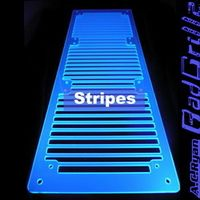 RadGrillz Stripes 3x120mm - Acryl UVBlue