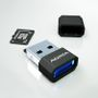 A-DATA MicroReader Adata V3, microSD-SDHC,  USB2, Black with blue LED