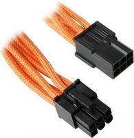 6-Pin PCIe Verlängerung 45cm - sleeved orange/ black