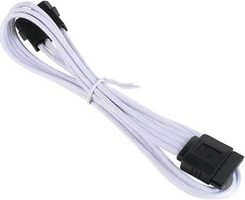 Molex zu SATA Adapter 45 cm - sleeved white/ black