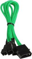 BITFENIX Molex zu 3x 3-Pin 7V Adapter 20cm - sleeved green/ black (BFA-MSC-M33F7VGK-RP)