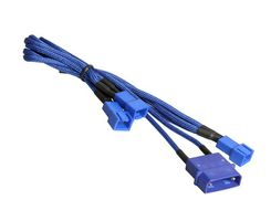 Molex zu 3x 3-Pin 7V Adapter 20cm - sleeved blue/blue
