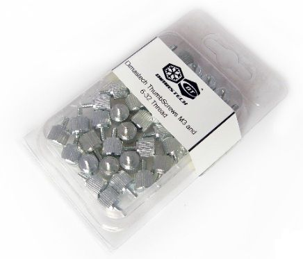 Thumbscrew Kit 6-32 + M3, 40 Stck. - silver
