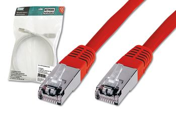DIGITUS PREMIUM CAT 5E SF-UTP PATCH CAB LENGTH 0.5 M COLOR RED CABL (DK-1531-005/R)