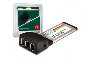 DIGITUS COMBO USB 2.0 CARD FIREWIRE EXPRESSCARD IN (DS-31202-1)