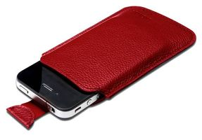 Leat case f iP4 & iPod T. ser
